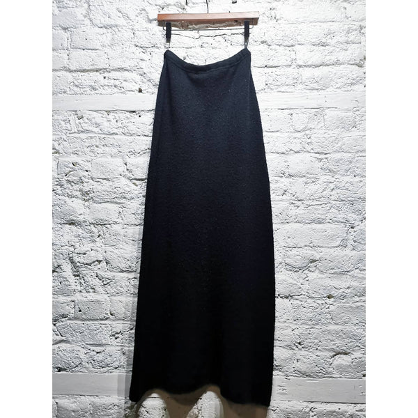 ISSEY MIYAKE FLEECE WOOL BLACK SKIRT FULL LENGTH