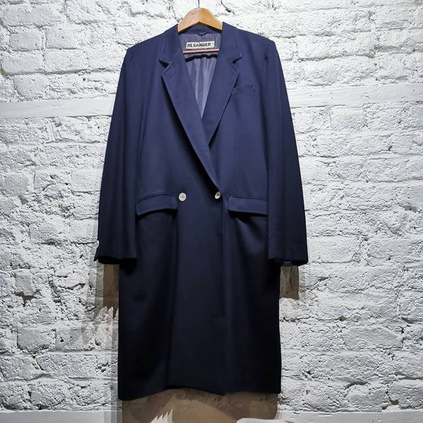 JIL SANDER ARCHIVE 1990S NAVY DOUBLE BREASTED COAT