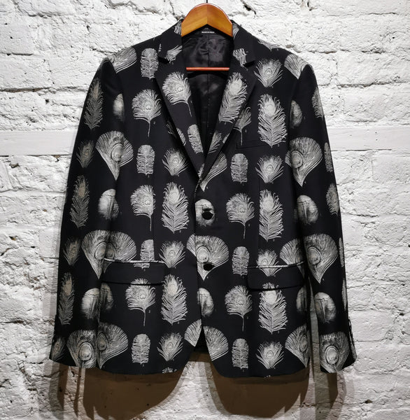 ALEXANDER MCQUEEN FEATHER EMBROIDERED JACKET