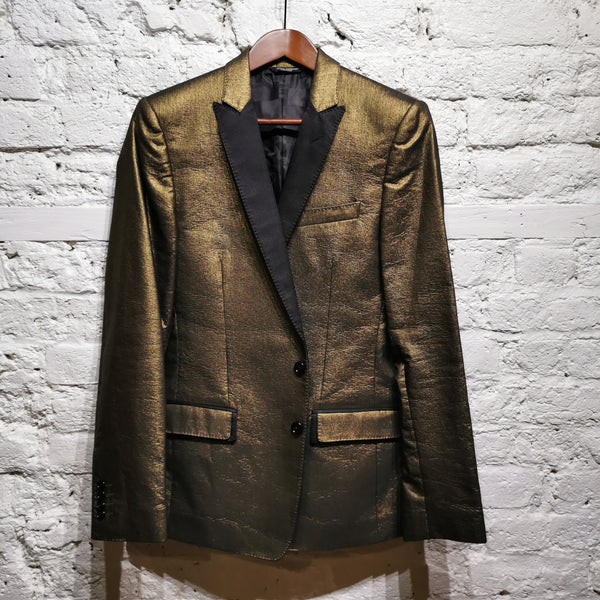 DOLCE AND GABBANA GOLD DINNER JACKET