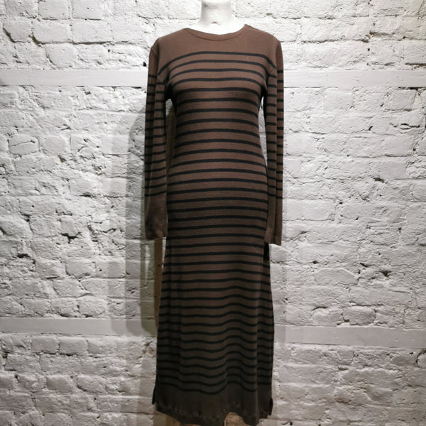 JEAN PAUL GAULTIER JEANS LONG STRIPED ARCHIVE DRESS SIZE M