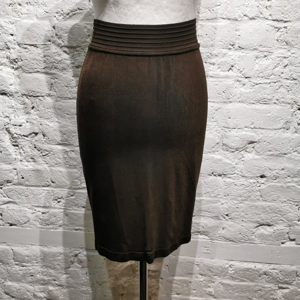 ALAIA ARCHIVE STRETCH SKIRT