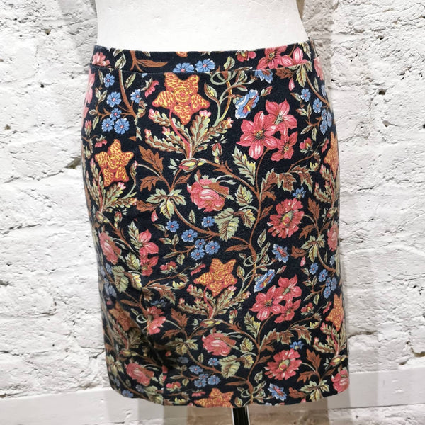 KENZO JUNGLE FLOWER PRINT SKIRT