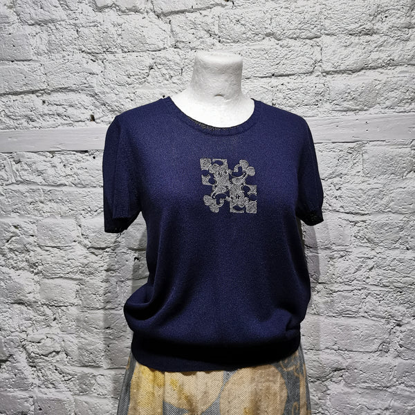 ICEBERG KNITTED MICKEY MOUSE TOP