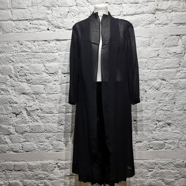 VINTAGE 1930s SHEER SILK CREPE COAT