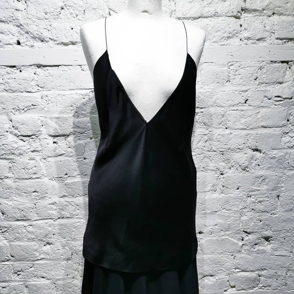 HAIDER ACKERMANN BLACK SILK TOP