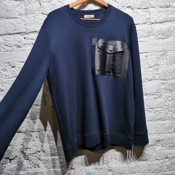 VALENTINO SWEATER WITH LEATHER