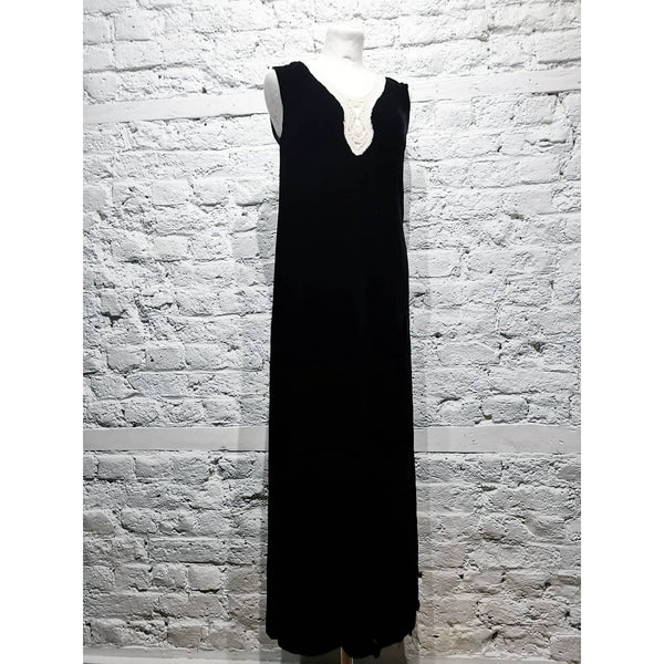 AGNES B VELVET DRESS LONG WITH SLITS