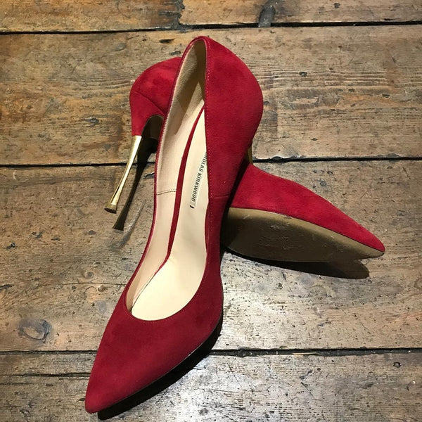 NICHOLAS KIRKWOOD RED HEELS WITH GOLD SIZE 39