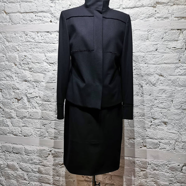 JIL SANDER BLACK JACKET VELVET TRIM