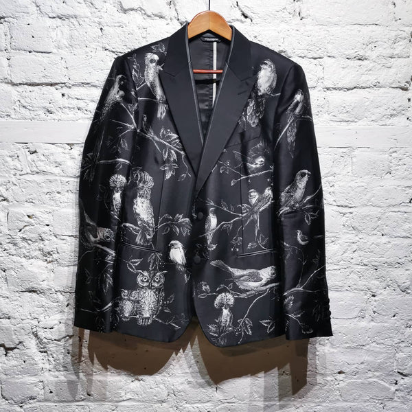 DOLCE AND GABBANA BIRD PRINT JACKET