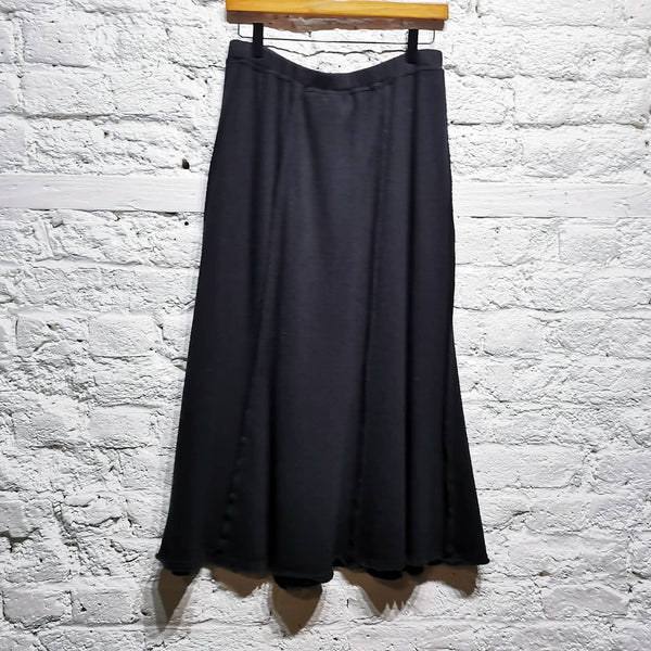 COMME DES GARCONS BLACK FLEECE WOOL SKIRT RAW EDGE SIZE M