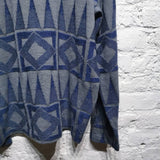 ISSEY MIYAKE RARE 1980s GREY AND BLUE KNIT SIZE M
