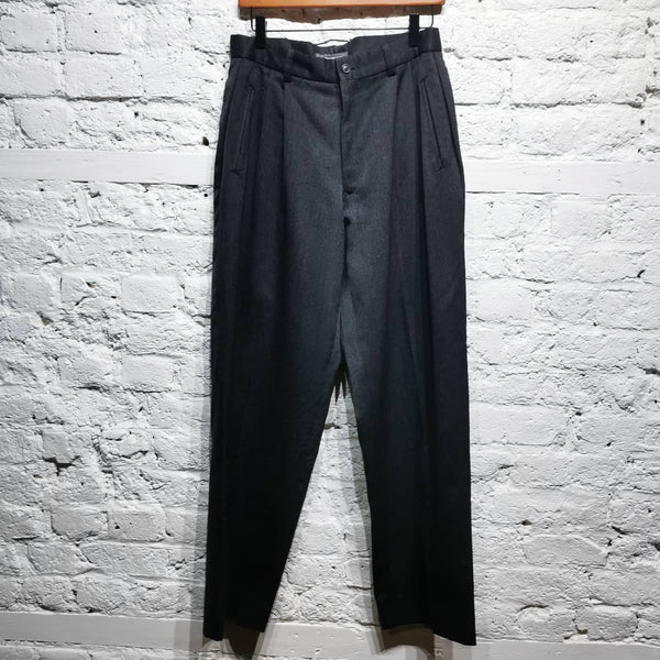 ISSEY MIYAKE ARCHIVE WIDELEG PLEAT FRONT TROUSERS SIZE L