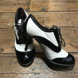 CHANEL VINTAGE MARY JANE SHOES SIZE 37.5
