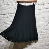 ALAIA Black Lazer Cut Skirt