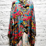 KANSAI INTERNATIONAL ARCHIVE KANSAI YAMAMOTO 1980s PRINT LONG SHIRT