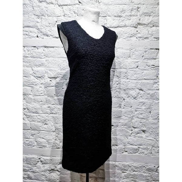 DIANE VON FURSTENBERG BOUCLE LEATHER DRESS