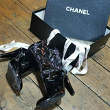 CHANEL PATENT BOOTS (RESALE)