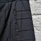 ISSEY MIYAKE HEART HAAT PANEL STITCHED PINSTRIPED SKIRT SIZE 2