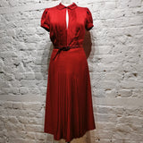 MOSCHINO RED SILK DRESS