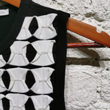 JW ANDERSON BLACK & WHITE  ORIGAMI BUTTERFLY TOP