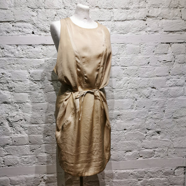 ACNE IVORY SILK DRESS