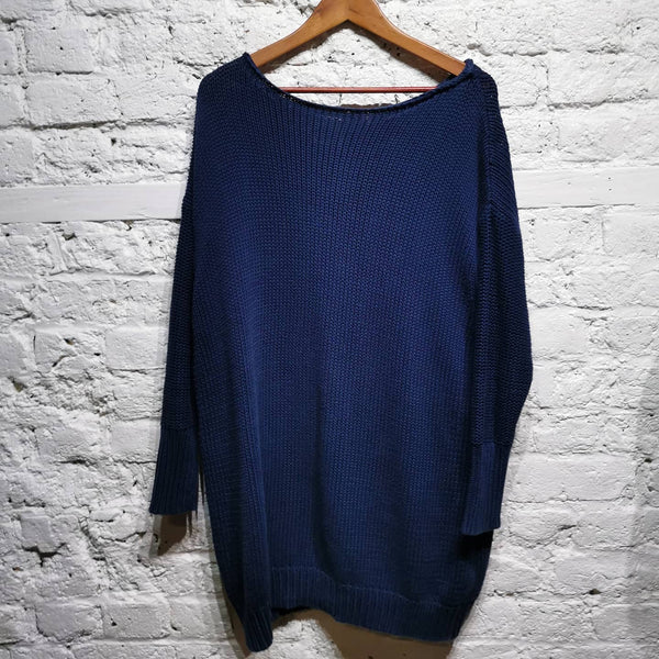 ACNE COTTON OVERSIZED BACK ZIP KNIT SIZE S