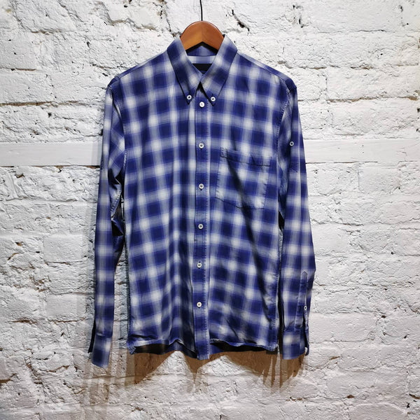 ALEXANDER MCQUEEN PURPLE CHECK SHIRT SIZE IT 48