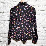 PAUL SMITH BLACK cotton/silk PRINT WOMENS SHIRT