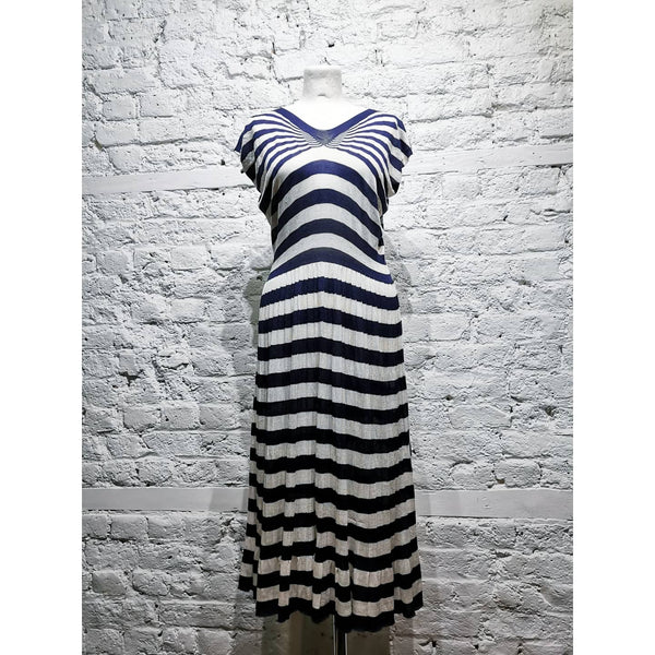 JUNYA WATANABE COMME DES GARCONS STRIPED KNITTED DRESS SIZE S