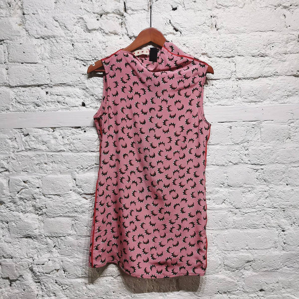 MARNI PINK MINI DRESS SIZE IT 38 UK 6