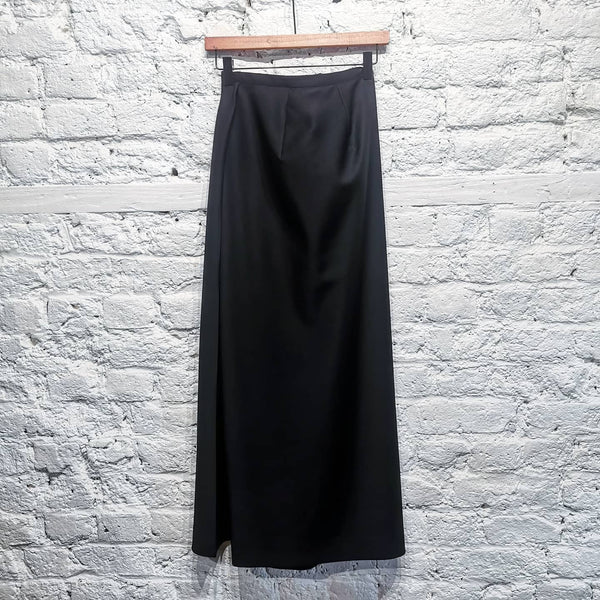 YOHJI YAMAMOTO LONG SKIRT WITH BACK BUTTON DETAIL SIZE M