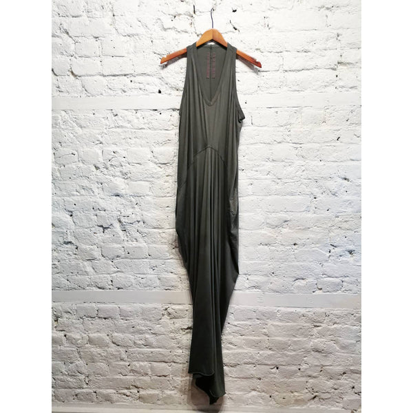 RICK OWENS LONG DRKSHADOW DRESS SIZE L