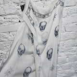 ALEXANDER MCQUEEN LARGE COTTON/MODAL NAUTICAL PRINT SKULL SCARF