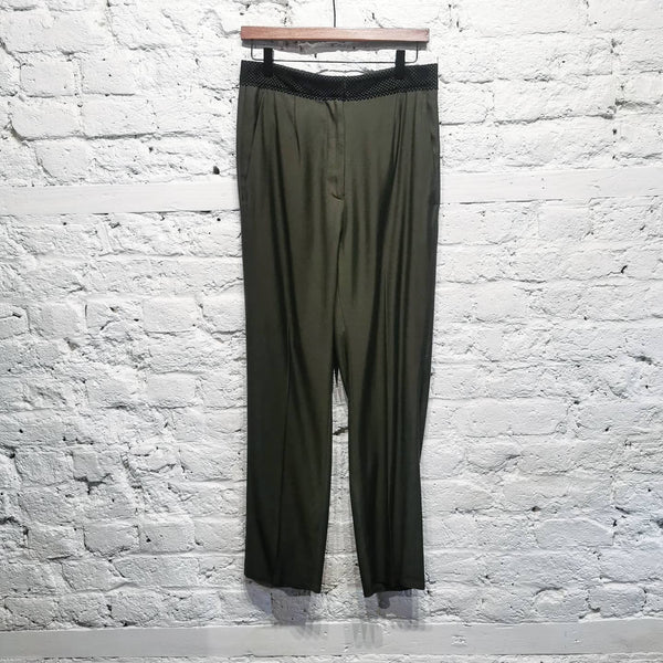 MAISON MARGIELA MM6 GREEN TROUSERS SIZE IT 40 UK 8
