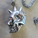 ALEXANDER MCQUEEN NECKLACE SPIKEY SKULL