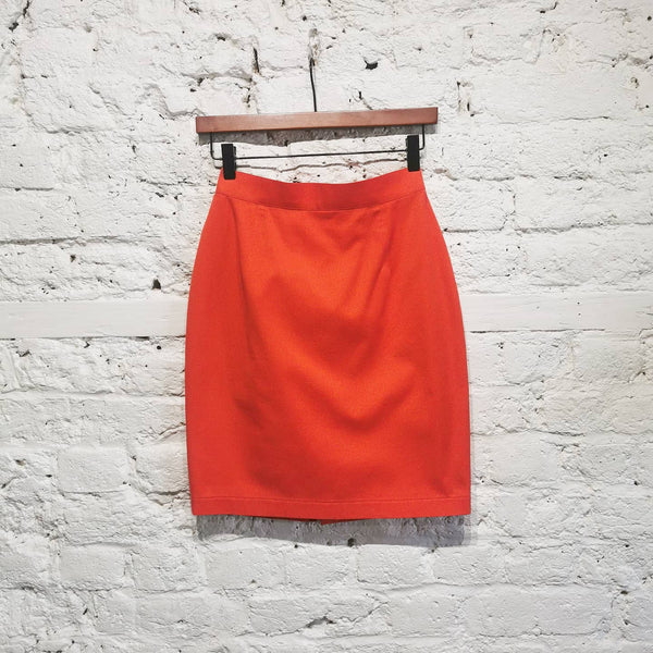 THIERRY MUGLER VINTAGE 90s  ORANGE MINI SKIRT