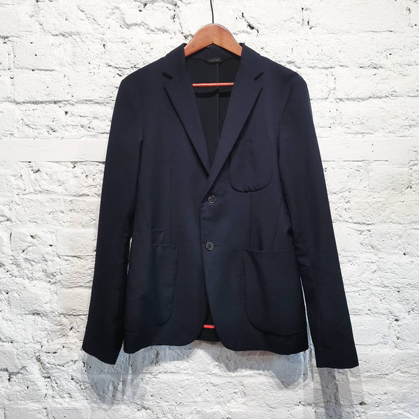 JIL SANDER  NAVY  SHORT MENS JACKET