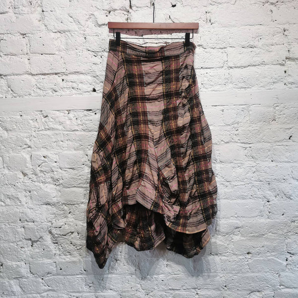 VIVIENNE WESTWOOD ANGLOMANIA TARTAN ASYMETRIC SKIRT SIZE IT 42