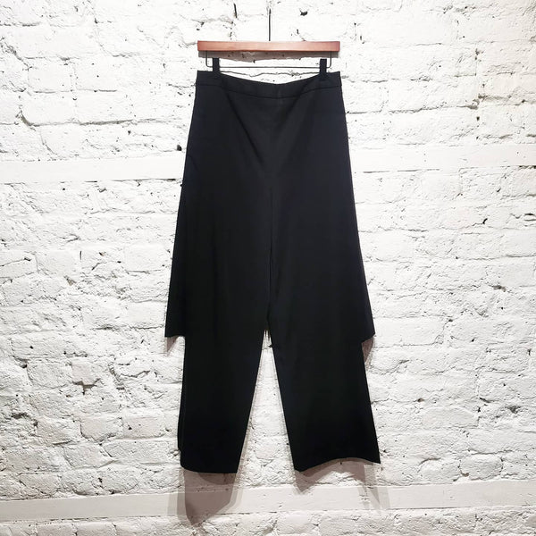 CHALAYAN BLACK GAUCHO SIDE SPLIT PANTS