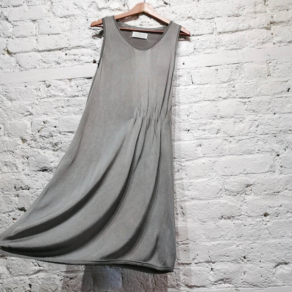 MAISON MARTIN MARGIELA 4 KNITTED SHEEN COTTON DRESS SIZE M