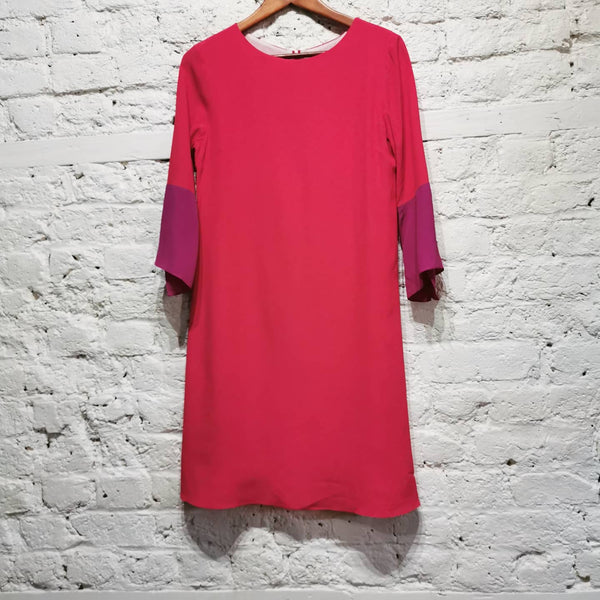PAUL SMITH 60S STYLE PINK SILK DRESS