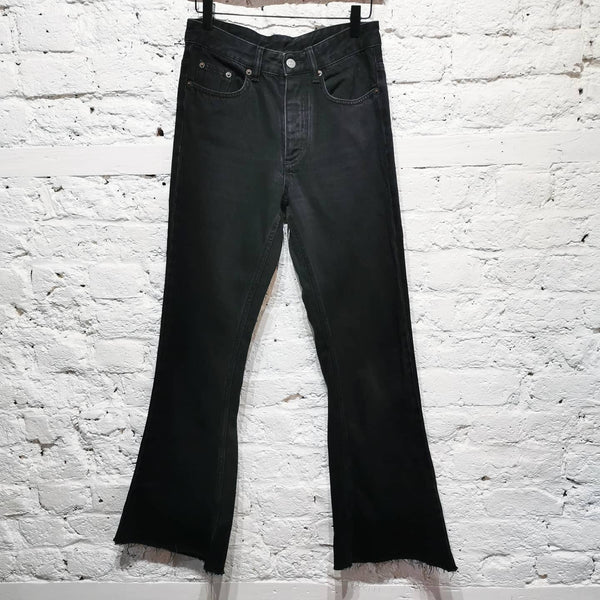 MAISON MARGIELA BLACK FLARED JEANS SIZE IT 38