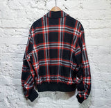 ALEXANDER McQUEEN McQ BRUSH COTTON TARTAN BOMBER JACKET
