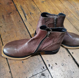 ANN DEMEULEMEESTER BROWN ANKLE BOOTS 42 (large fit)