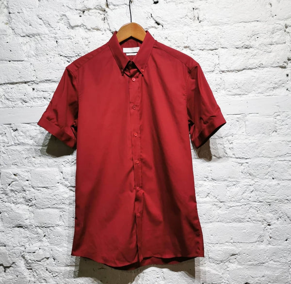 ALEXANDER MCQUEEN RED SHORTSLEEVE SHIRT