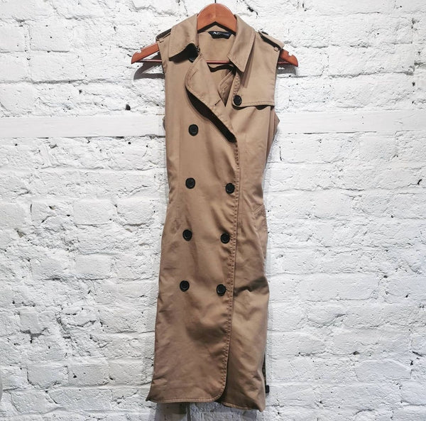 AQUASCUTUM SLEEVELESS COAT /DRESS SIZE s