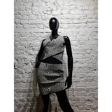 OPENING CEREMONY black and white bodycon dress size M