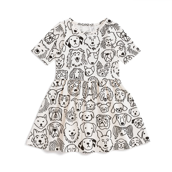 Alberta Dress - Dogs Black